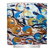 Marbles Of Life Shower Curtain