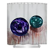 Marbles Of My Reflection Shower Curtain