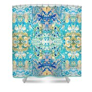 marbling 3D  Shower Curtain