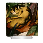 Marc: The Tiger, 1912 Shower Curtain