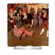 Marcelle Lender Dancing The Bolero In Chilperic Shower Curtain by Henri de Toulouse Lautrec