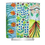 March April May Shower Curtain