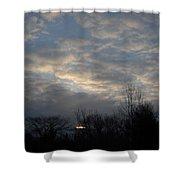March Clouds In Dawn Sky Shower Curtain