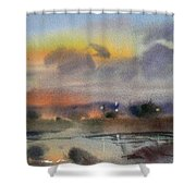 March Evening On The River Shower Curtain