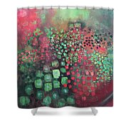 March Of The Flamingos Stairway To Heaven Shower Curtain