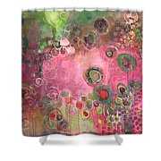 March Of The Spoonbills Shower Curtain