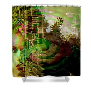 March Of Time Shower Curtain