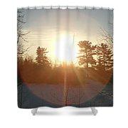 March Sunrise Circle Shower Curtain