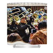 Marching Band Brass Shower Curtain