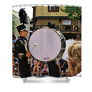 Marching Band Percussion  Shower Curtain