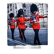 Marching Grenadier Guards Shower Curtain