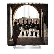 Marching Off On Detail At Fort Mchenry Shower Curtain