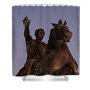 Marcus Aurelius Statue Rome Shower Curtain
