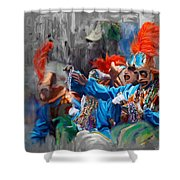Mardi Gras 242  Shower Curtain