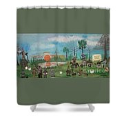 Mardi Gras At The Pond Shower Curtain