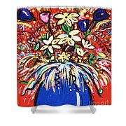 Mardi Gras Floral Explosion Shower Curtain