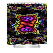 Mardi Gras Fractal Shower Curtain