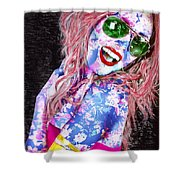 Mardi Gras Lady Shower Curtain