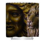 Mardi Gras Lion Shower Curtain