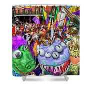 Mardi Gras Mob Shower Curtain