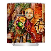 Mardi Gras Night Shower Curtain