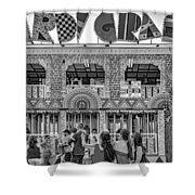 Mardi Gras North - Bw Shower Curtain