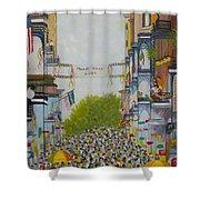 Mardi Gras On Bourbon Street Shower Curtain