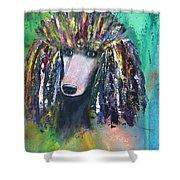 Mardi Gras Poodle Shower Curtain