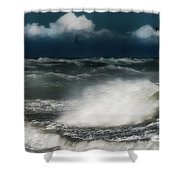 Mareggiata A Ponente - Eastern Seastorm Shower Curtain