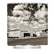 Marfa Ballroom In Sepia Shower Curtain