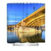 Margaret Bridge Budapest Shower Curtain