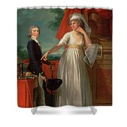 Margaret Callander And Her Son James Kearney  Shower Curtain