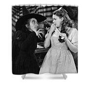 Margaret Hamilton And Judy Garland In The Wizard Of Oz 1939 Shower Curtain