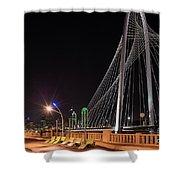 Margaret Hunt Hill Bridge Dallas Shower Curtain