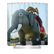 Margate New Jersey - Lucy The Elephant Shower Curtain