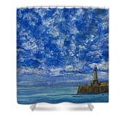 Margate Sea And Sky Shower Curtain