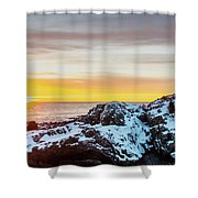 Marginal Way Day Break Shower Curtain
