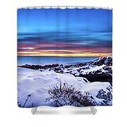 Marginal Way Presunrise Christmas Eve Shower Curtain