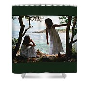 Marginal Way Shower Curtain