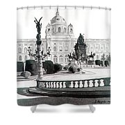 Maria Theresien Platz Shower Curtain