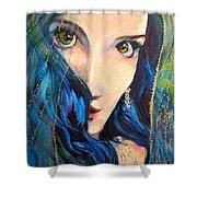 Mariah Blue Shower Curtain