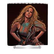 Mariah Carey Painting Shower Curtain