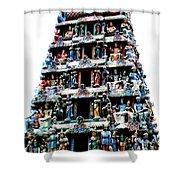 Mariamman Temple 1 Shower Curtain