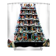 Mariamman Temple 4 Shower Curtain