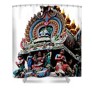 Mariamman Temple Detail 3 Shower Curtain
