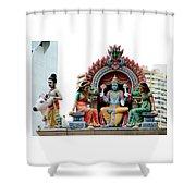 Mariamman Temple Detail 4 Shower Curtain