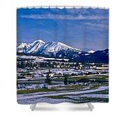 Mariapfarr Snowscape Shower Curtain