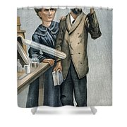 Marie And Pierre Curie Shower Curtain