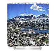 Marie Lake Panorama From High Above - John Muir Trail Shower Curtain