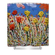 Marigold Flower Garden Shower Curtain